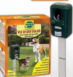 Соларен ултразвуков апарат против кучета и котки 100 кв.м