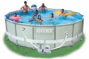 Сглобяем басейн с филтърна помпа Intex Ultra Frame 488 x 122 см
