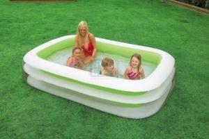Надуваем басейн Семейство Intex 56483NP 262 х 175 см