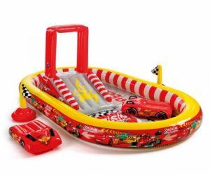 Детски център за игра с пързалка Cars Intex 57134NP