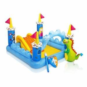 Детски център за игра с пързалка Вълшебен замък Intex 57138NP