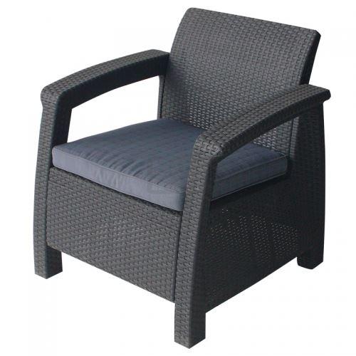 Пластмасово кресло с възглавничка San Valente Корфу