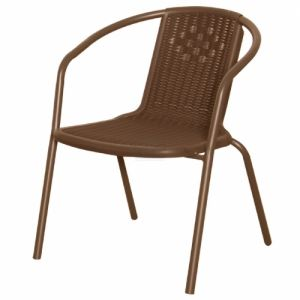 Градински стол PVC ратан San Valente 4572