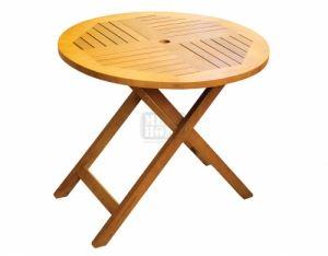 Градинска кръгла маса от дърво DeHome