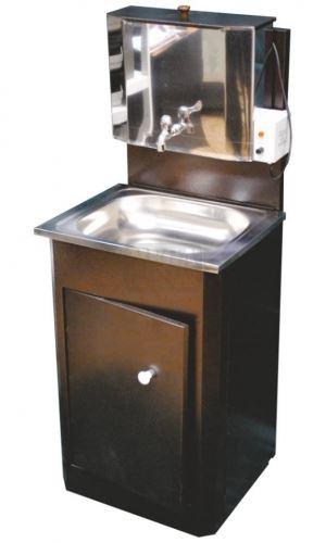 Умивалник с мивка и резервоар от неръждаема стомана