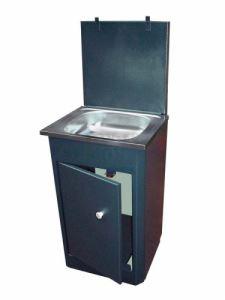 Умивалник с пластмасов резервоар и неръждаема мивка
