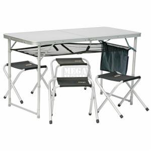 Сгъваем комплект маса с 4 стола Vango