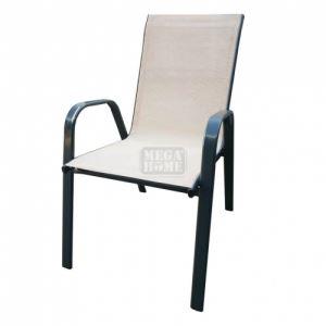 Градински стол с метална конструкция