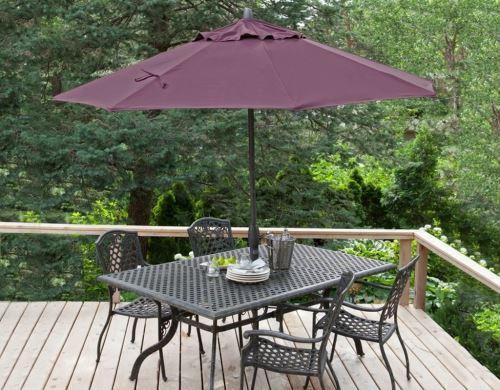 Градински чадър DeHome Ф 270 см