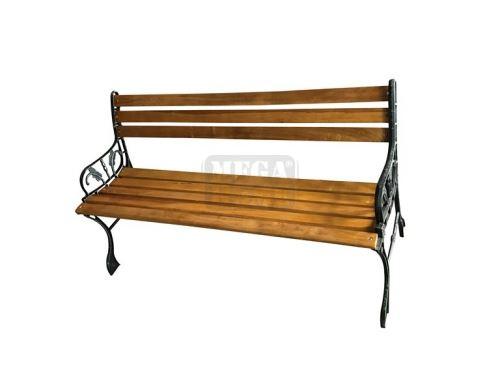 Градинска дървена пейка ТИК F8011 120 x 47 x 65 см