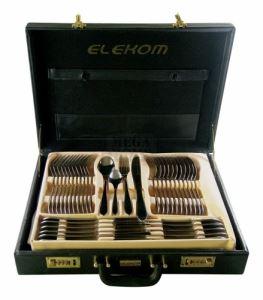 Комплект прибори за хранене 72 части в куфар Елеком ЕК-105 G