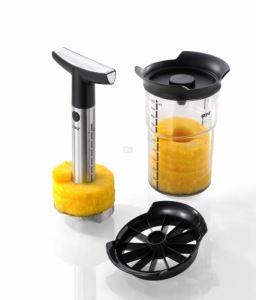 Метална резачка за ананаси с контейнер Gefu