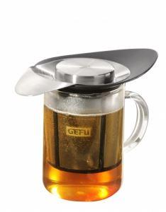 Стоманен филтър за чай с подложка Gefu Armonia