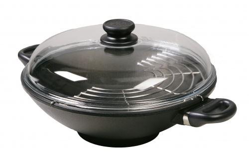 Индукционна тенджера УОК с приставка за готвене на пара SKK Ø 32