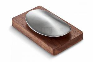 Стоманен сапун с дървена поставка Philippi Savon