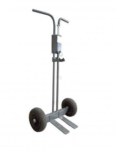 Универсална стоманена транспортна количка с твърди гуми