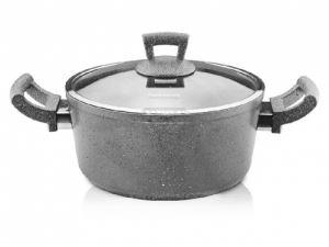 Дълбока тенджера Гранит 20 - 24 х 10 - 11 см 3 - 4.9 л сиво