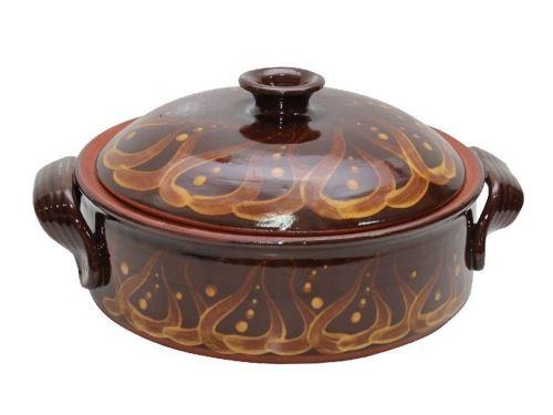 Керамична тава с капак средна