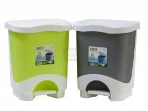 Пластмасов кош с педал ЕКО 8 л