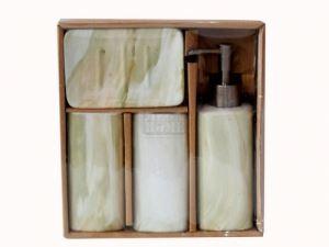 Керамичен комплект за баня 4-ка кръг мрамор С33-32