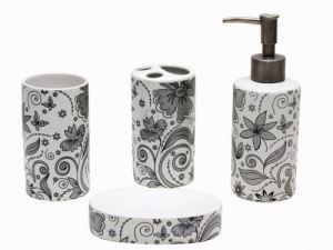 Керамичен комплект за баня 4-ка кръг цветя С33-33