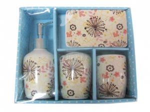 Керамичен комплект за баня 4-ка цветя Д20-41,М4-202