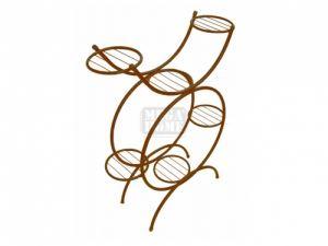 Цветарник за 6 саксии кръгъл