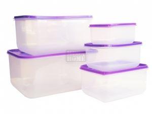 Комплект правоъгълни кутии за микровълнова 5 броя