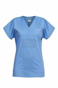Медицинска туника с кимоно ръкав Leone синя