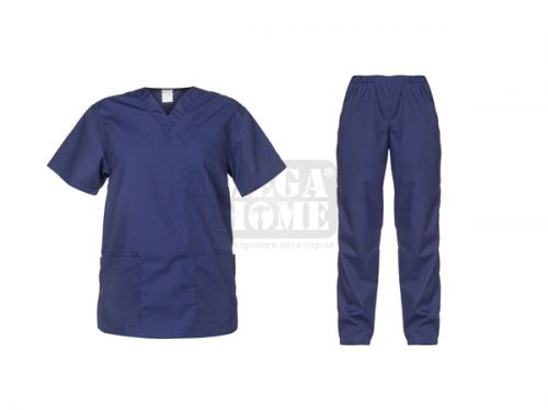 Медицински комплект туника и панталон Cesare тъмно син