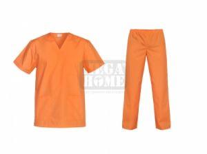Медицински комплект туника и панталон Cesare праскова