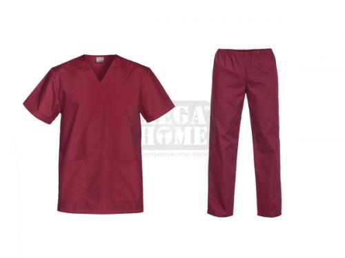 Медицински комплект туника и панталон Cesare бордо