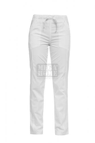 Медицински панталон унисекс Luca бял