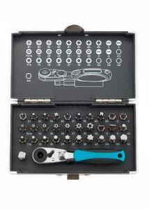 Комплект битове 1/4 и магнитен адаптер Gross 33 части