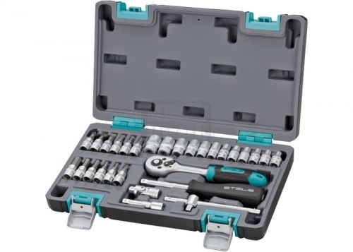 Комплект инструменти 29 части 1/4 в пластмасов куфар Stels
