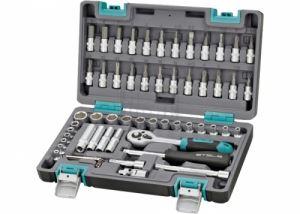 Комплект инструменти 57 части 1/4 в пластмасов куфар Stels