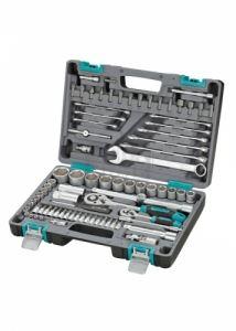 Комплект инструменти 82 части 1/2 1/4 в пластмасов куфар Stels