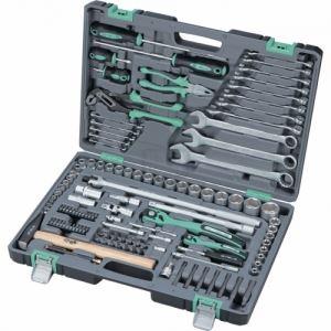 Комплект инструменти 119 части 1/2 1/4 в усилен куфар Stels