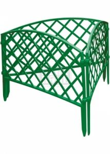 Декоративна ограда Плетена 24 х 320 см зелена