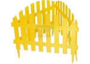 Декоративна ограда Ампир 28 х 300 см жълта