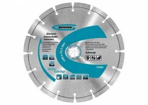 Диамантен диск за сухо рязане сегментиран 115-230х22.2 мм Gross