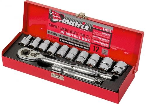 Комплект инструменти 12 части 1/2 10 - 24 мм MTX Master