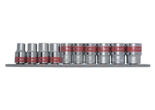 Комплект вложки 1/2 6-стенни 10 броя 10 - 22 мм MTX