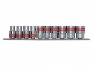 Комплект вложки 3/8 6-стенни 10 броя 8 - 19 мм MTX