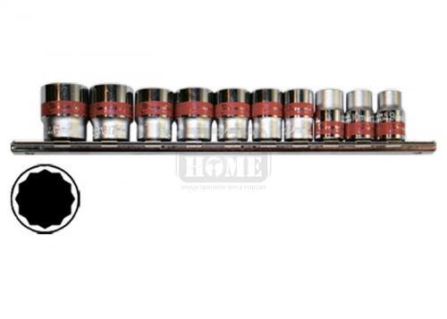 Комплект вложки 1/4 12-стенни 10 броя 4 - 13 мм MTX