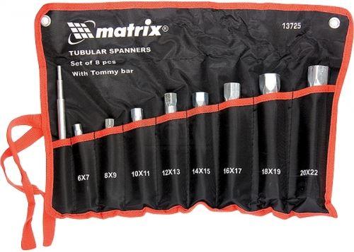 Комплект ключове глухи цилиндрични 6 - 22 мм 8 броя с върток MTX