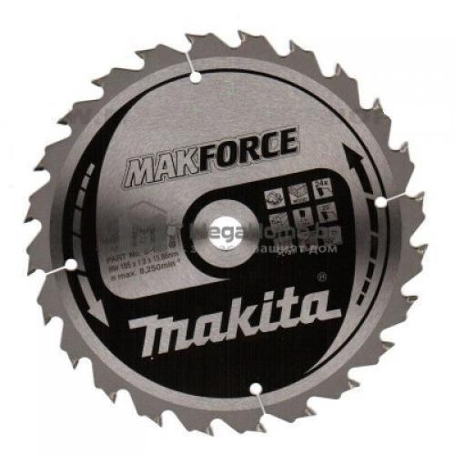 Циркулярен HW диск за дърво Makita 190 мм х 30 мм z24 Makforce