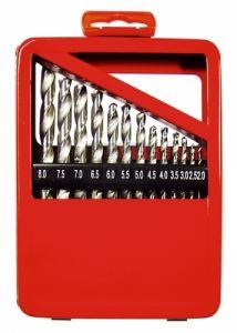 К-т свредла за метал 1 -10 мм цилиндрична опашка 19 броя MTX