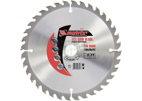 Диск за рязане на дърво 150 - 190 х 20 мм 24 - 36 зъба MTX Profi