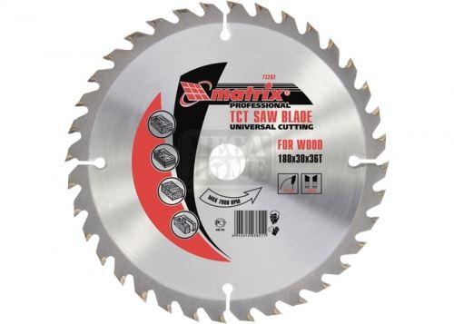 Диск за рязане на дърво 185-210 х 30 мм 36 зъба MTX Professional